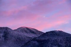 Красочная sunlit крышка горы Стоковая Фотография