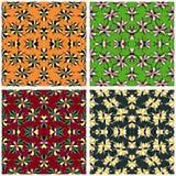Красочное абстрактное собрание красивых цветков vector иллюстрация Стоковое Изображение RF