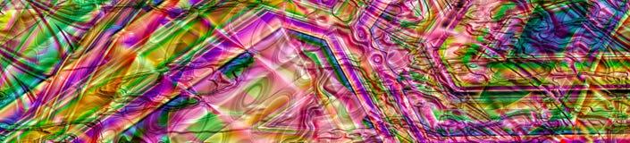 Красочное абстрактное хаотическое знамя панорамы Стоковое фото RF