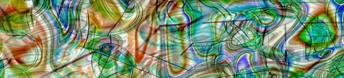 Красочное абстрактное хаотическое знамя панорамы Стоковые Изображения RF