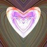 Красочное беловатое сердце фрактали стоковые фотографии rf