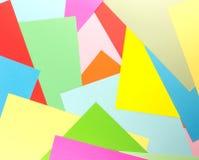 Красочное бумажное перекрытие как геометрическая предпосылка картины Стоковое фото RF