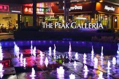 Красочное визирование ночи фонтанов Стоковое Изображение