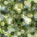 Красочное влияние картины patchework или лоскутного одеяла шестиугольное, знамя на весна и пасха Стоковая Фотография