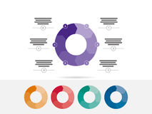 Красочное 6 встало на сторону вектор диаграммы диаграммы представления головоломки infographic Стоковое Фото