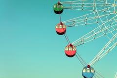 Красочное гигантское колесо ferris, год сбора винограда Стоковые Изображения RF