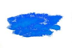Красочное голубое пятно акварели с нашлепкой краски aquarelle стоковые изображения rf