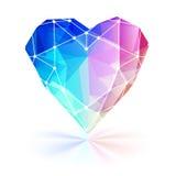Красочное граненное сердце с рамкой провода Стоковые Изображения
