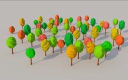 Красочное дерево 3d Стоковые Изображения