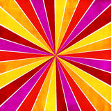 Красочное желтое, розовое, оранжевое и красное abstrac стиля sunburst луча стоковое фото rf