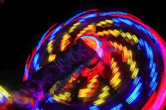 Красочное закручивая колесо стоковое фото rf