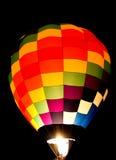 Красочное зарево воздушного шара Стоковое Фото