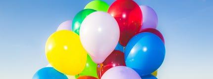 Красочное знамя воздушных шаров Стоковые Изображения