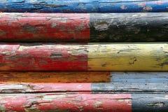 Красочное изображение поляков выставки скача штабелированных на скакать выставки Стоковое фото RF