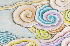 Красочное искусство облака в китайском стиле Стоковое Изображение