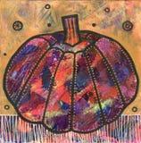 Красочное искусство тыквы стоковые фотографии rf