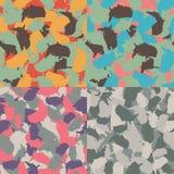 Красочное камуфлирование Америки городское Комплект картины camo формы США безшовной Ткань ткани вектора Войска печатают дизайн иллюстрация вектора