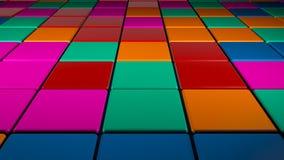 Красочное квадратное освещение формы танцплощадки диско иллюстрация штока
