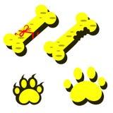 Красочное квартиры значков собаки установленное Стоковые Фотографии RF