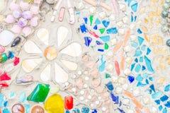 Красочное керамическое украшение картины стоковая фотография
