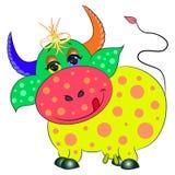 Красочное коровы милое Стоковые Изображения RF