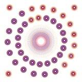 Красочное кругов круглое случайное концентрическое на белой предпосылке также вектор иллюстрации притяжки corel Стоковое Фото