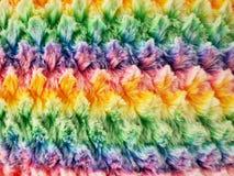 Красочное мех faux радуги стоковые изображения rf