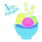 Красочное мороженое в шаре Стоковые Фотографии RF