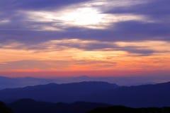 Красочное небо в утре Стоковые Изображения RF