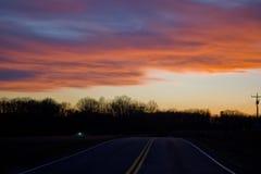 Красочное небо около озера гор Смита Стоковые Изображения RF