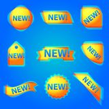 Красочное новое знамя сети рекламы Стоковое фото RF