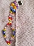 Красочное ожерелье радуги Стоковое Фото