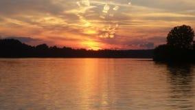 Красочное озеро Алабамы неба Стоковое фото RF