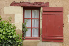 Красочное окно окруженное плющом Chenonceaux Франция Стоковые Изображения