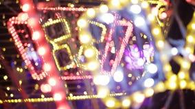 Красочное освещение рождества Гирлянды рождества сток-видео