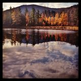 Красочное падение в Вермонт Стоковое Изображение