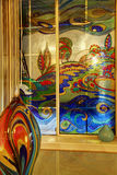 Красочное покрашенное окно. Стоковые Изображения RF