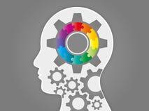 Красочное представление головы головоломки спектра радуги Стоковое Фото