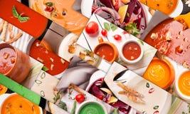 Красочное пюре супов Стоковые Фото