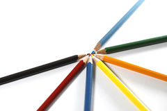 Красочное расположение карандашей Стоковая Фотография