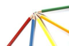 Красочное расположение карандашей Стоковое фото RF