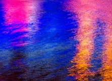 Красочное светлое отражение на воде Стоковое фото RF