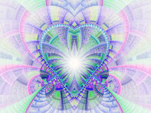Красочное светлое сердце фрактали Стоковые Фотографии RF
