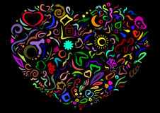 Красочное сердце Стоковые Фото