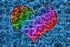 Красочное сердце Стоковое Изображение RF