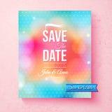 Красочное спасение шаблон даты текстурированный с точками бесплатная иллюстрация