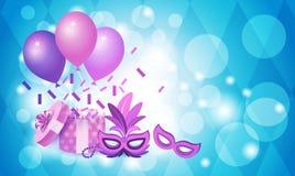 Красочное торжество партии праздника Рио масленицы Бразилии маски Стоковые Фото