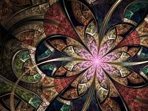 Красочное флористическое цветное стекло Стоковое Фото