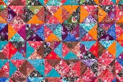 Красочное шальное лоскутное одеяло для продажи Стоковые Изображения