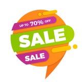 Красочное badg стикера ценника знамени дизайна продажи пузыря речи Стоковые Изображения RF